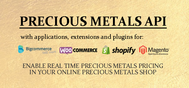 Real Time Precious Metals API, extensions and plugins.